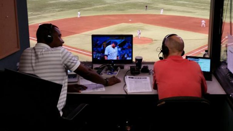 I got to work one season on Brewers radio with the late, great Darryl Hamilton. Here in the Tampa Bay booth.